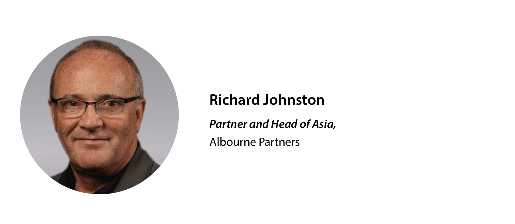 Richard Johnston, Partner and Head of Asia for Albourne Partners